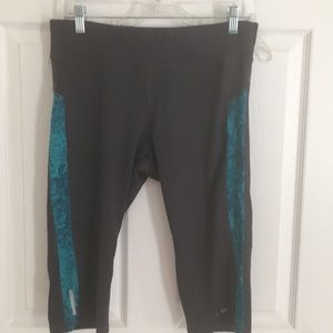 Champion grey and blue workout capri